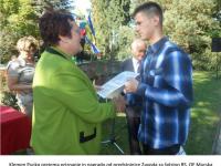 Podelitev nagrad ob literarnem tečaju